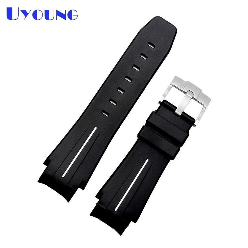 sport watch Silicone Rubber watch strap 21mm waterproof silicone bracelet watch mans watches band Convex interface belt  fashion