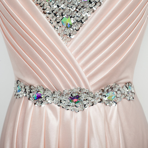 Image 4 - שמלת ערב 2020 משלוח חינם באורך רצפת סאטן סקסי פורמליות לנשף שמלות צד ארוך ערב שמלות