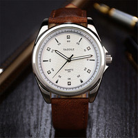 YAZOLE Brand Luxury Wrist Watch PU Leather Sport Men Quartz Wristwatches Clock Watch Male Waterproof Watch