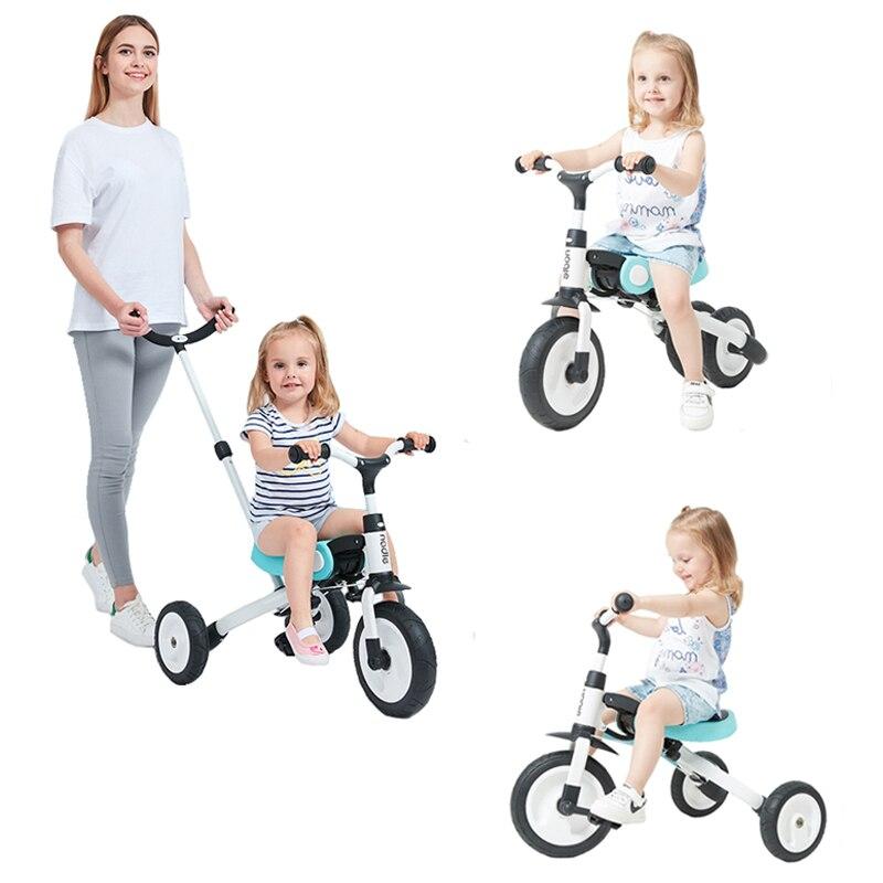 Детский трехколесный велосипед игрушки для катания детский складной велосипед