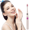 Ultrasonic Sonic Electric Toothbrush Battery Powered Tooth Brushes Smart timing mode With 2Pcs Replacement DuPont bristles Head
