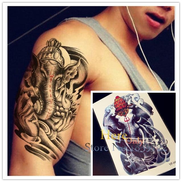 Elefante Grande Mal Monstruo Hyfh22 3d Arte Corporal Tatuaje - Tatuajes-de-brazaletes-para-el-brazo