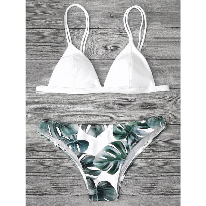 New 2018 summer Women floral printed Bikini Set Bandage Swimwear Swimsuit sexy Brazilian Bathing female Beachwear Biquini 2pcs 1