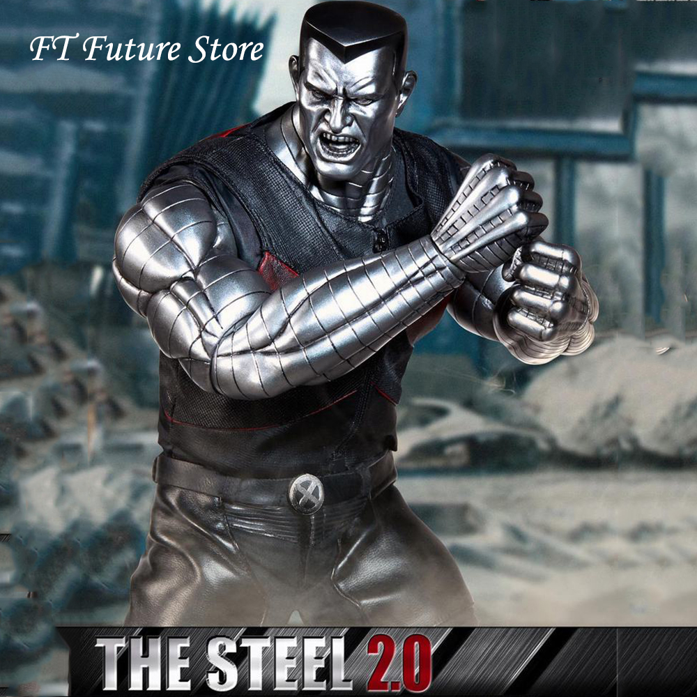 For Colelction 1/6 Full Set Mutant Premium Edition Series Steel 2.0 Double Metallic Silver Skin Head Sculpt Action Figure ModelFor Colelction 1/6 Full Set Mutant Premium Edition Series Steel 2.0 Double Metallic Silver Skin Head Sculpt Action Figure Model