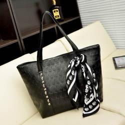 Для женщин сумки череп каркасная цепь Роскошные Hangbag леди Винтаж Tote Сумка мешок 2 дизайн + шарф