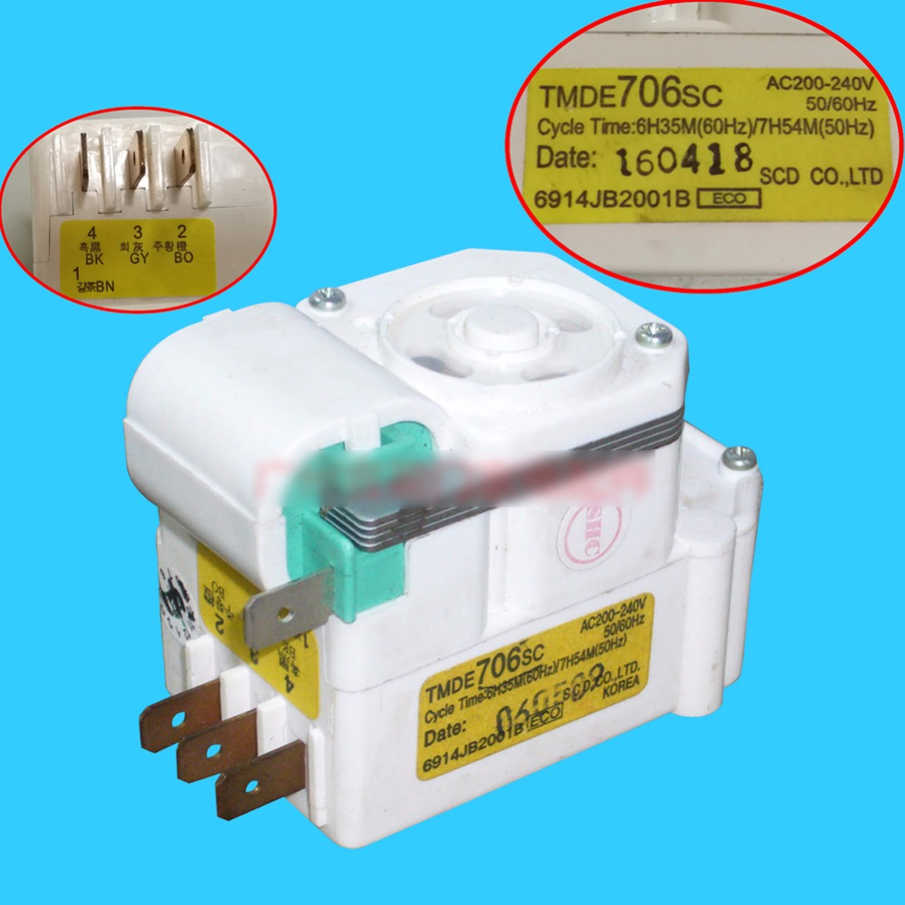 Original Air-Cooled Refrigerator Timer / Air-Cooled Defrost Timer/Timer Control Switch/TMDE706SC Refrigerator accessories Parts