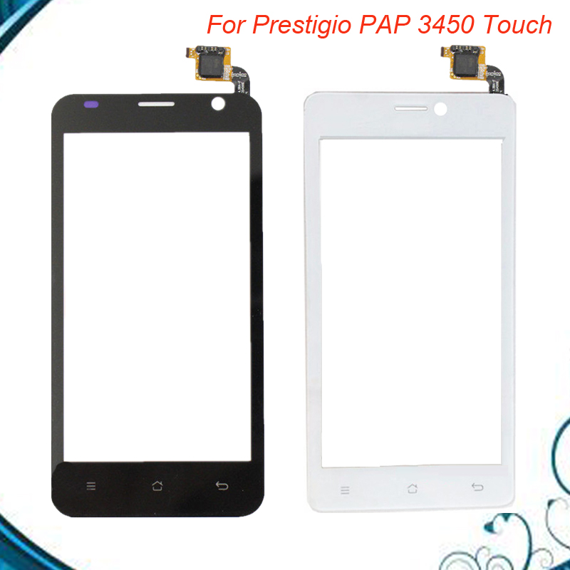 For Prestigio MultiPhone PAP 3450 PAP3450 Duo Smartphone Front Touch Glass Screen Digitizer Panel Lens Sensor 5pc/lot