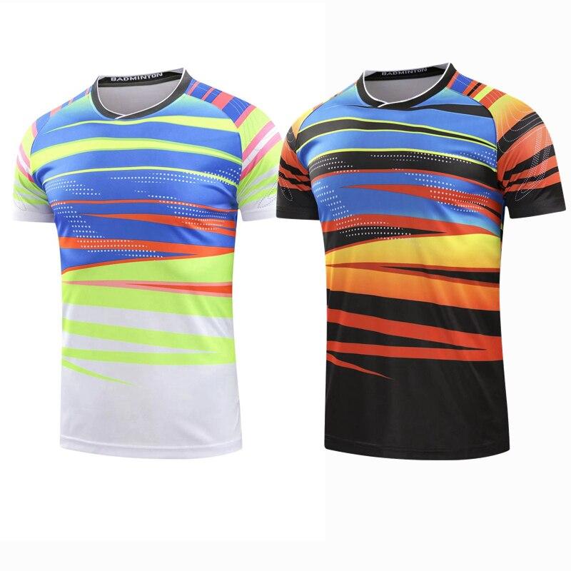 Спортивная быстросохнущая дышащая Бадминтон рубашка, Для женщин/Для мужчин настольным теннисом одежда командная игра Бег обучение бег спо...