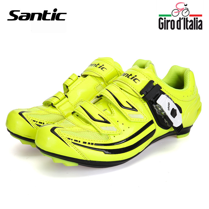 Santic Road Cycling Shoes Bike ciclismo  zapatos de hombre Women Green Bicycle Shoes Cycling Lock Cycling Shoes S12016V west biking bike chain wheel 39 53t bicycle crank 170 175mm fit speed 9 mtb road bike cycling bicycle crank