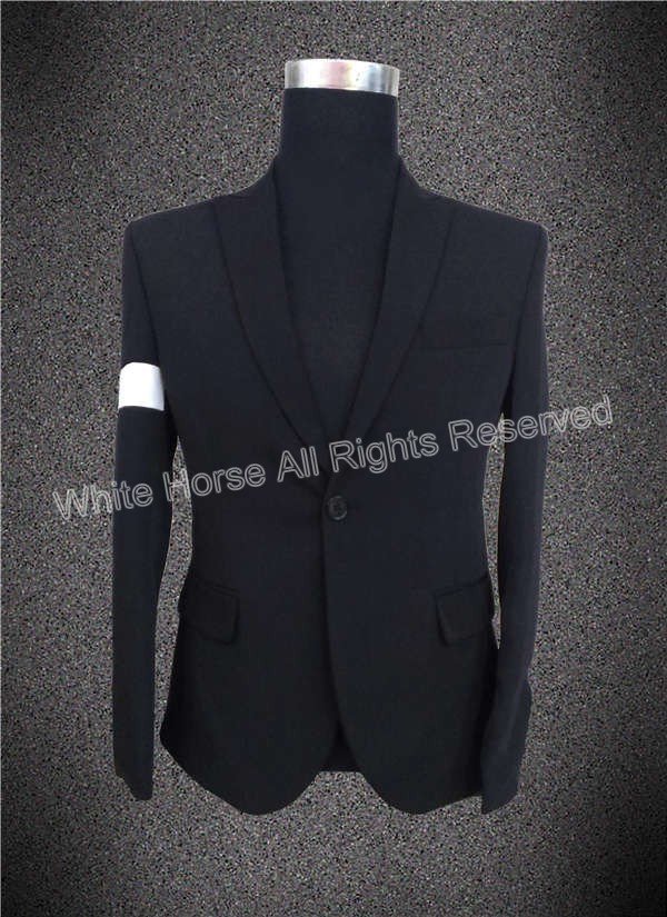 Cappotto men fashion jacket 2018 white jacket man Michael Jackson black & white jacket blazer homens 2018 Stage Jackets Mens michael jackson black and white cover gold black l