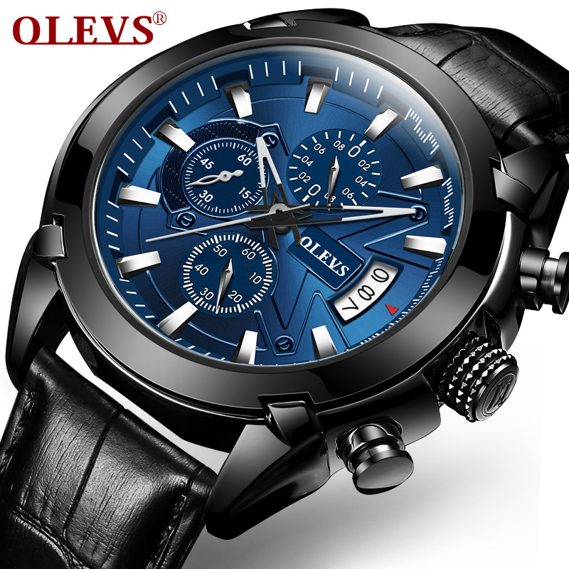OLEVS Original Watch Men Sport Quartz Male Watches Chronograph Wristwatch Auto Date Time Hour Clock Reloj Hombre Mens Watches 60%off fashion silicone bracelet watch olevs men classic design military watches quartz auto date diver sports wristwatch 2017