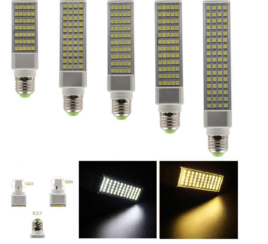 Lampada G23 G24 E27 5 w 7 w 9 w 11 w 13 w 15 w 85 v-265 v LED אופקית Plug מנורת SMD5050 Bombillas LED PL תירס הנורה ספוט אור CE RoHS