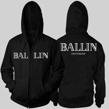 Новинка 2017 осенние и зимние кофты мужская одежда толстовки Ballin Амстердам Графический Мужская Толстовка мужчины с длинными рукавами с капюшоном