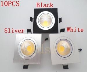 10 шт. светодиодный светильник светодиодный точечный квадратный яркий Встраиваемый светодиодный Диммируемый COB 7 Вт 9 Вт 12 Вт Светодиодный точечный светильник украшение потолочный светильник AC110V220V