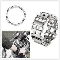 Wnnideo Tread Bracelet The Travel Friendly Wearable Multi Tool Stainless Steel
