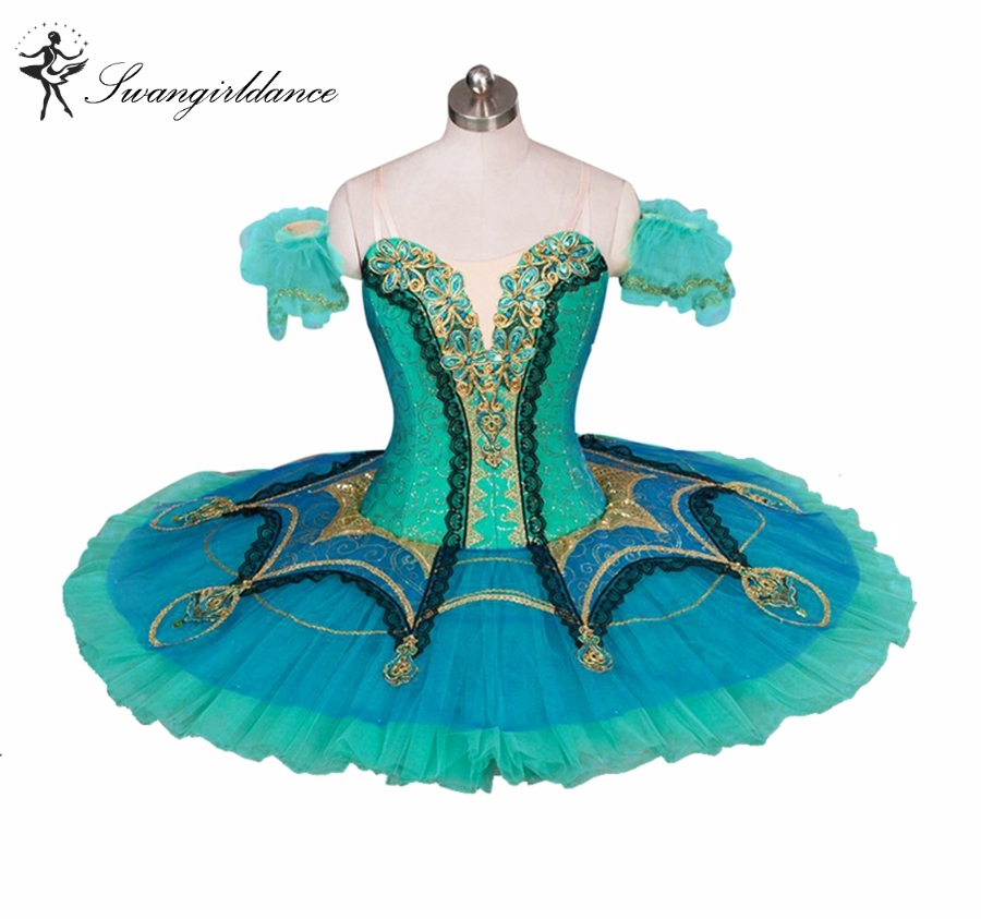 Adult green nutcracker Ballet Tutu Professional Classical Ballet Tutus for perfomance tutu ballet pancake costumes BT9029