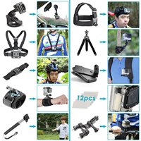 HFES New 36 In 1 Sport Accessory Kit For GoPro Hero4 Session Hero1 2 3 3