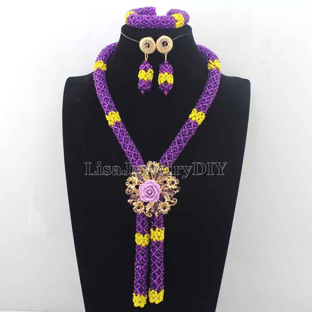 Latest Nigerian Wedding Beads Necklace Set earrings Indian Bridal ...