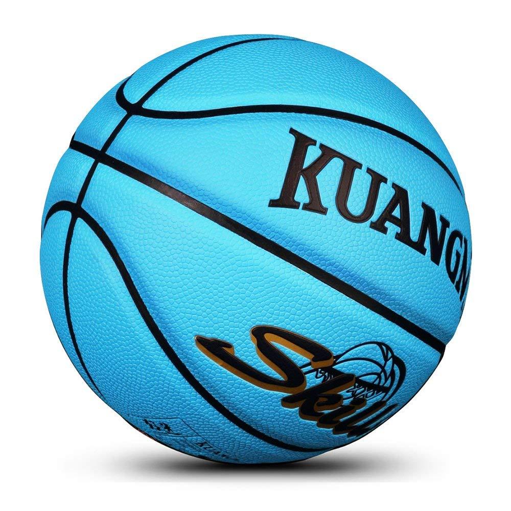 Kuangmi Blue purple Training Basketball Kids Chlid Indoor//Outdoor Size 5 balls