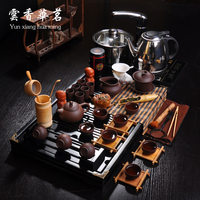Purple Sand Tea Set Cooker Solid Wood Tea Tray Kung Fu Of A Complete Set Of