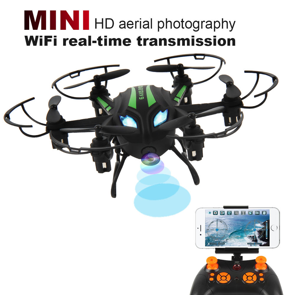 Mini RC Quadcopter 2.4GHz 4CH 6-Axis Gyro 3D UFO Drone FPV With WIFI Camera FPV Mini Drone Headless Drone RC toys juncheng 3015 2 mini drone 3d flip fly 6 axis gyro 2 4g 4ch rc quadcopter