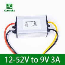 цена на DC DC Converter 12-52V to 9V 3A Voltage Reducer IP68 Step Down Buck Module Power Supply Regulator for Cars Truck Electric Motors