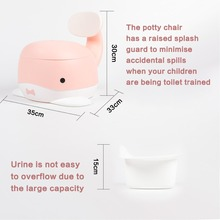 Whale Potty Chair-Fun Toilet Training Seat for Baby Boys and Girls-Stable and Comfortable for your Toddler Kids Toilet Seat