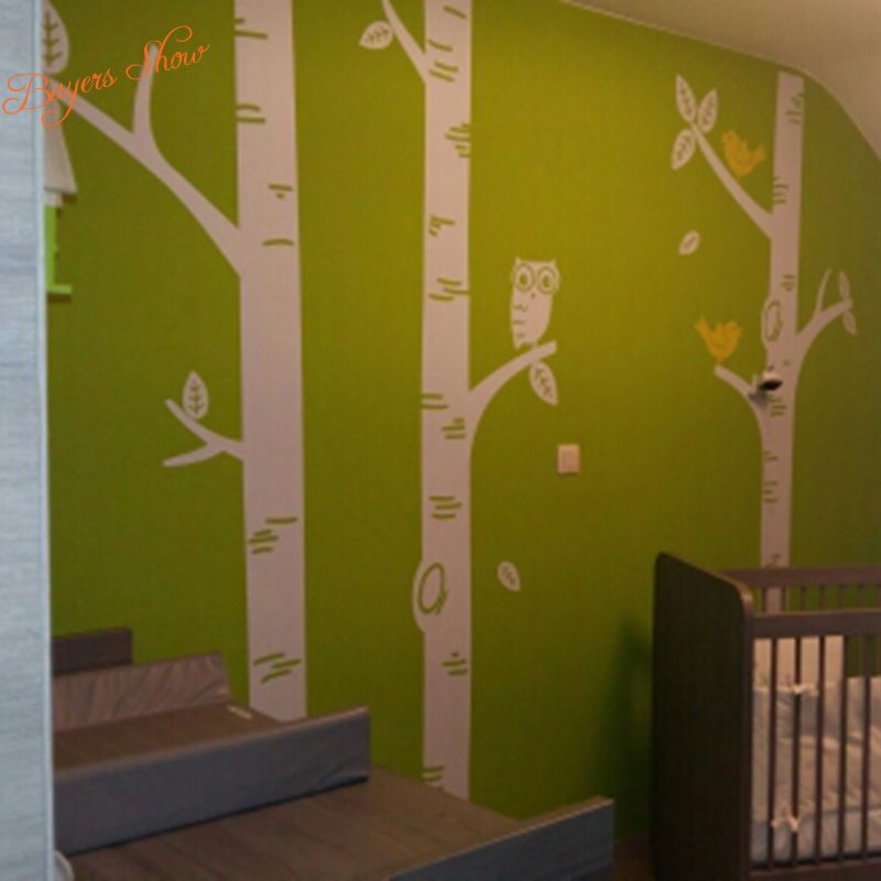 free shipping oversized Birch Tree Wall Decals for nursery Baby ...