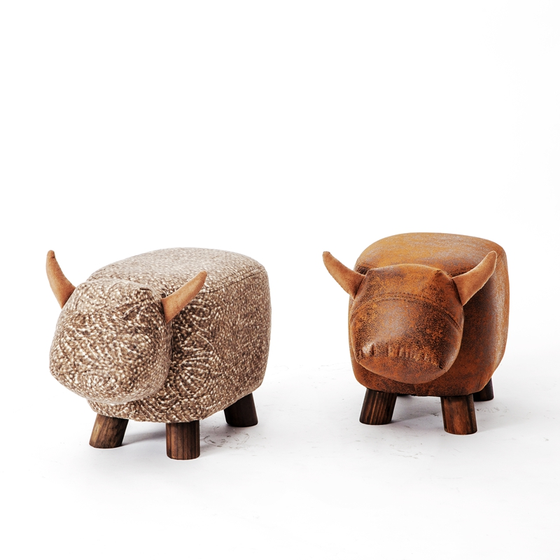 2017 Special Offer Real Chinese Porcelain Pouf Poire Cattle Stool Children  Shoes Bench Animal Cow Bag Wooden Modern -in Stools & Ottomans from  Furniture on ...