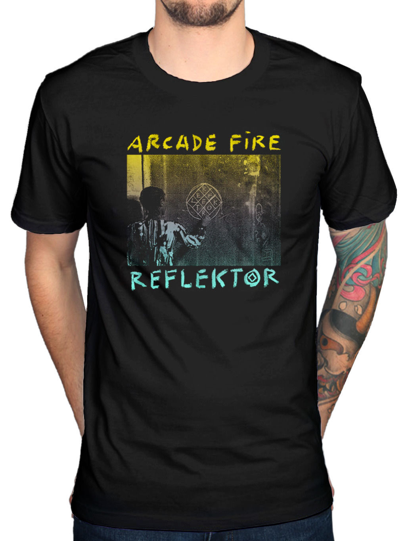 Design t shirt neon colors - Funny Design Gildan Mens Arcade Fire Reflektor T Shirt Funeral The Suburbs Neon Bible Rock Men S Short Sleeve T Shirt