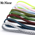 Mr.Niscar 5 Pair High Quality Shoelace Athletic Sport Sneakers Flat Shoelaces Striped Bootlaces Strings Colorful Shoe Laces