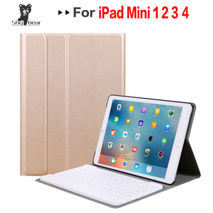 Image 1 - Business Case for IPad Mini 1 2 3 4 5 2019 Wireless Bluetooth Keyboard Full Protective Portable Keyboard Case Smart Cover