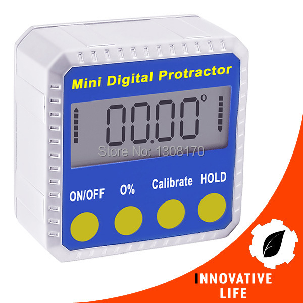 Digital Angle Protractor Inclinometer Gauge Meter 4 x 90degree Range with Magnetic Base Industrial Construction Use Tool  цены