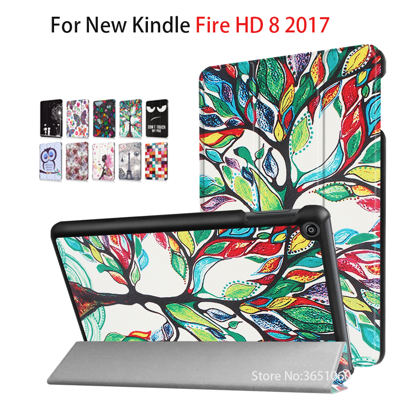 Smart schutzhülle abdeckung fall für amazon kindle <font><b>fire</b></font> hd 8 <font><b>tablet</b></font> 2017 release smart für alle neue feuer hd 7th generation <font><b>tablet</b></font> cove image