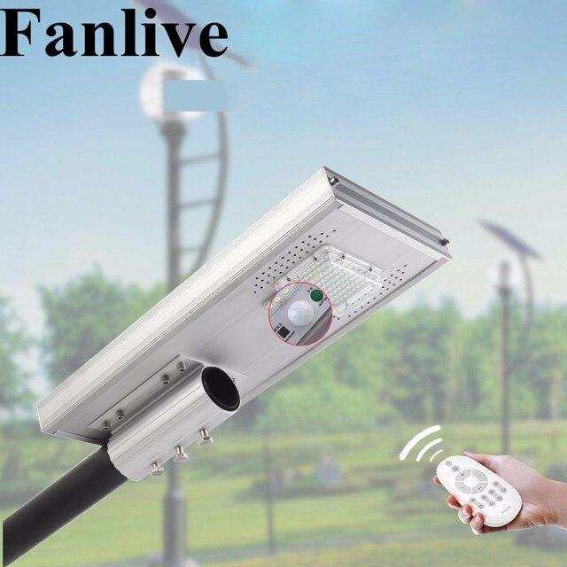 2PCS Fanlive 50W 100W 150W Integrated Refletor LED Exterior Foco Solar Garden Street Light Outdoor Waterproof IP66 PIR Sensor