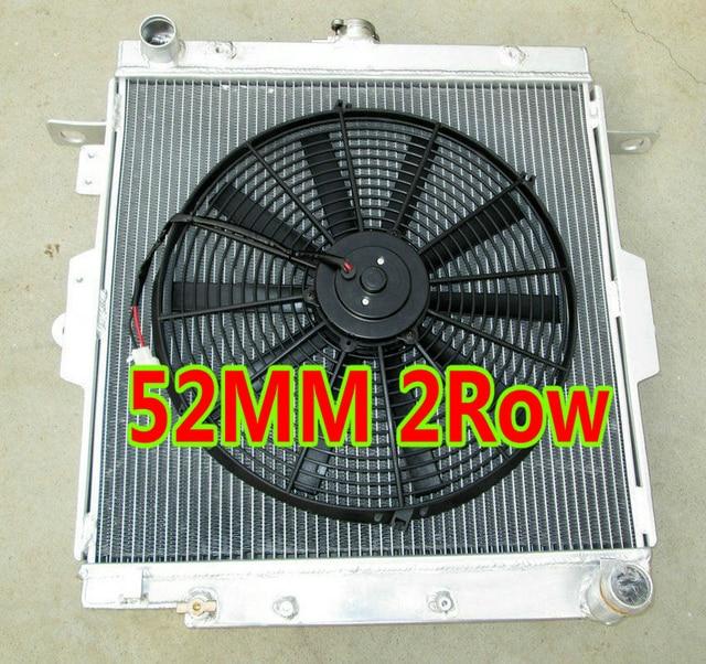 US $180 0  52MM Aluminum Radiator & Fan FOR Toyota Land Cruiser J70 1HZ  diesel engine LandCruiser/Machito HZJ70/HZJ73/HZJ77 I6 4 2L -in Oil Coolers