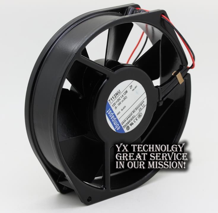 ФОТО Full Metal Original 7112NU 12V 12W 17CM 17038 temperature cooling fan for EBMPAPST 170*170*38mm