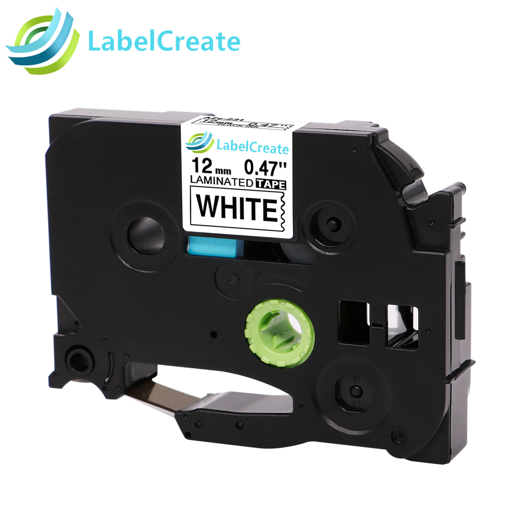 Labelcreate 12mm Compatible TZe231 for Brother P-touch Tze Label Tapes TZe-131 tze431 Labeler Cartridges For Label PrinterLabelcreate 12mm Compatible TZe231 for Brother P-touch Tze Label Tapes TZe-131 tze431 Labeler Cartridges For Label Printer
