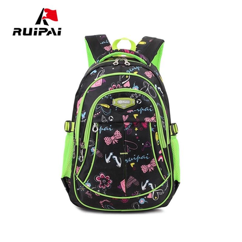RUIPAI Backpack Schoolbag Lovely Polyester Backpack School Bags Kids Babys Bags Student Waterproof Large Capacity Rucksack