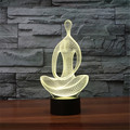 Chrismas Creative meditation shaped Night Light lamp Yoga 3D LED Night Light Acrylic Colorful Gradient Atmosphere Lamp drop ship