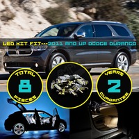 8x Car Interior LED Kit Roof Dome Map License Plate Courtesy Light For 2011 And Up
