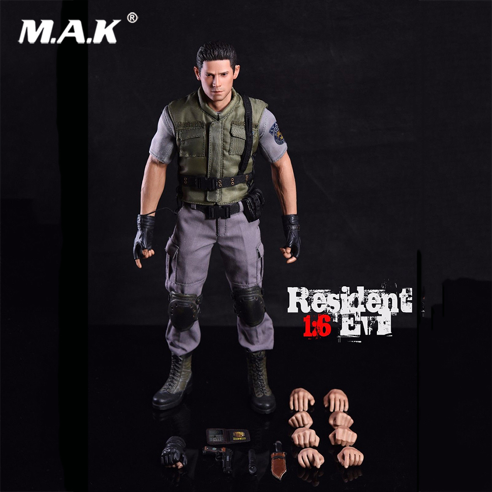 1/6 Scale Resident Evil Chris Redfield Movable Full Set Action Figure Model for Collection 1 6 scale full set soldier the lord of the rings elven prince legolas action figure toys model for collections