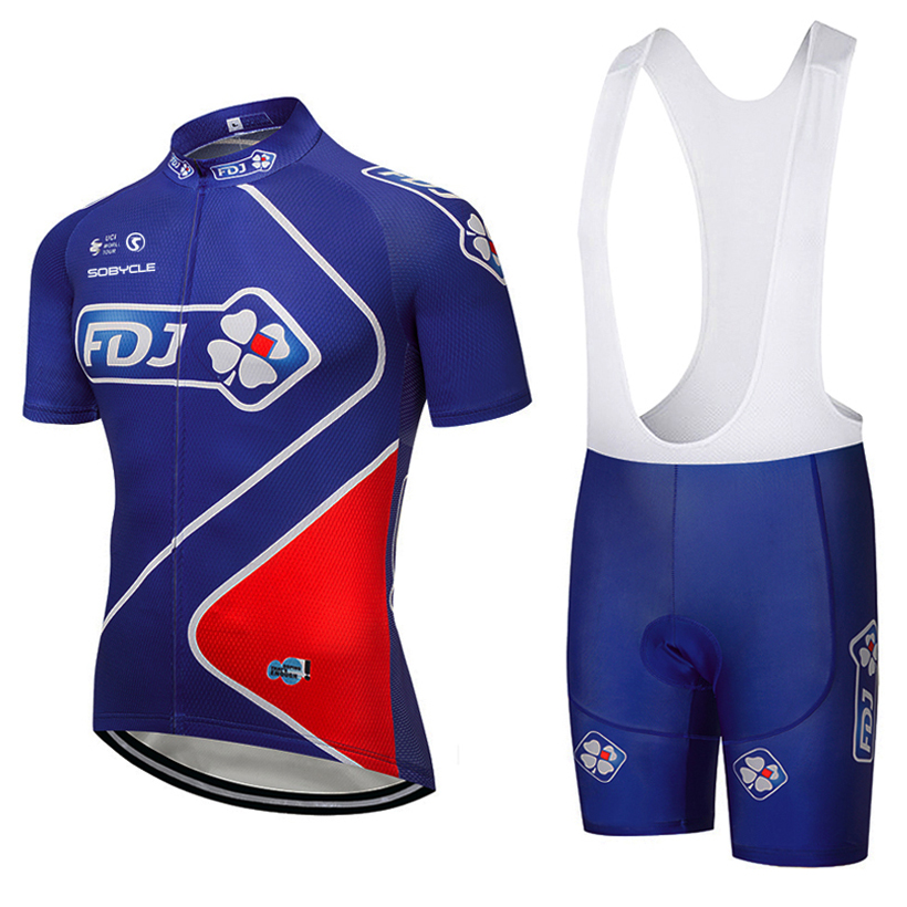 2018 TEAM FDJ BLUE cycling jersey bike short SET MTB Ropa Ciclismo mens women cycling WEAR quick dry BICYCLING Maillot Culotte 2015 blue fdj team cycling jersey quick dry breathable cycling shirts bike shorts set gel pad cycle maillot culotte full