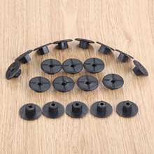 K90 20pcs 4mm Car for Fender Mud Flap Splash Guard Wheel Arch Bumper Panel Fastener Clip Fit For Mercedes
