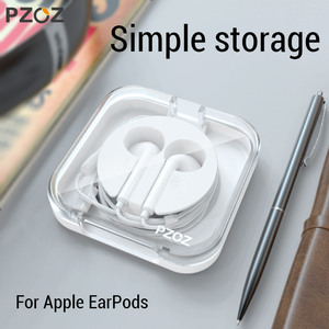 PZOZ Earphone Cases For Apple EarPods wired Earphone Headphone Headset Accessories Storage Carrying Hard Bag Box Case For EarPod(China)