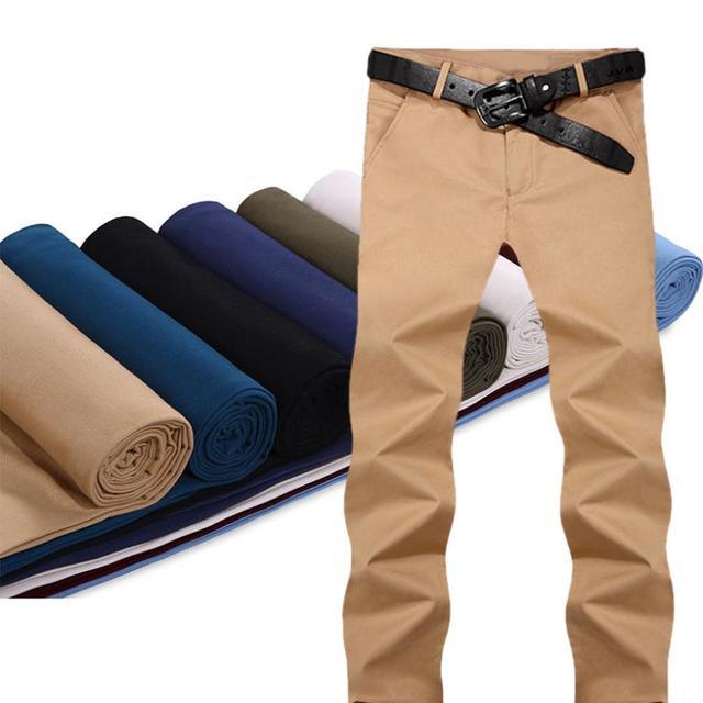 2017 Venta Ejército Nueva Llegada Pantalones Casuales Mediados de pantalones de Chándal Hombres, Pantalones Rectos de algodón, marca Pantalones Slim Fit Hombres 8 Colores 28-36