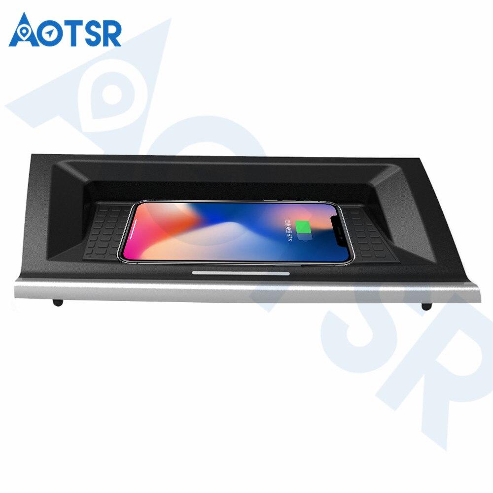 Aotsr chargeur de voiture sans fil pour BMW 218i 2016-2019 Intelligent infrarouge rapide sans fil voiture de charge pour téléphone/LG/Sangsum/Nokia