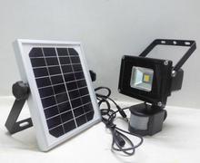 Colorpai 10ワット暖かい白ソーラーled投光器motionセンサーセキュリティソーラーライト屋外ガーデンスポットライト送料無料
