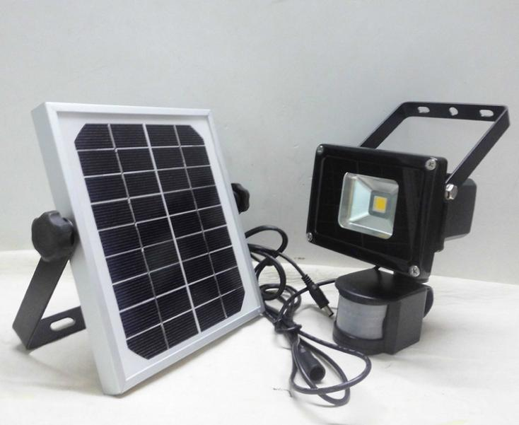 Colorpai 10w Warm White Solar Led Floodlights Motion Sensor Security Light Outdoor Garden Spotlights Free Shipping