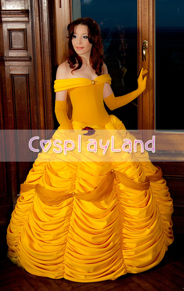 Princess Belle Costume Fancy Dress from Beauty and the Beast Cosplay Costume for Women Halloween Party Cosplay Costume